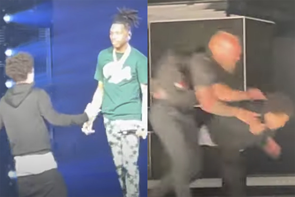 Lil Baby Fan Jumps on Stage During Show, Gets Tackled by Security
