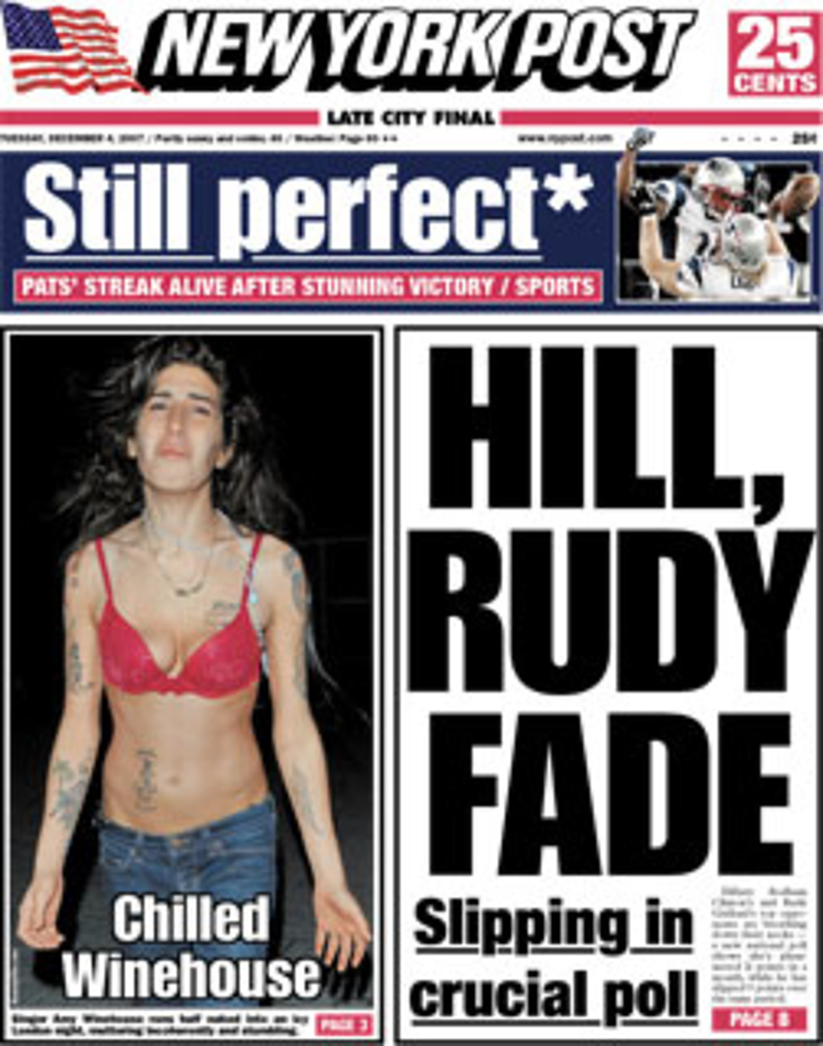 Amy Winehouse on the cover of the NY Post
