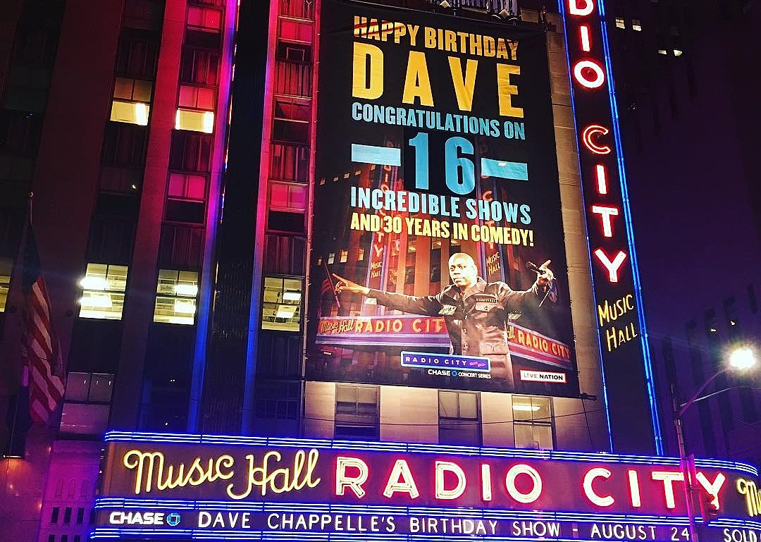 dave chappelle wrapped up his radio city run on his birthday dave chappelle wrapped up his radio