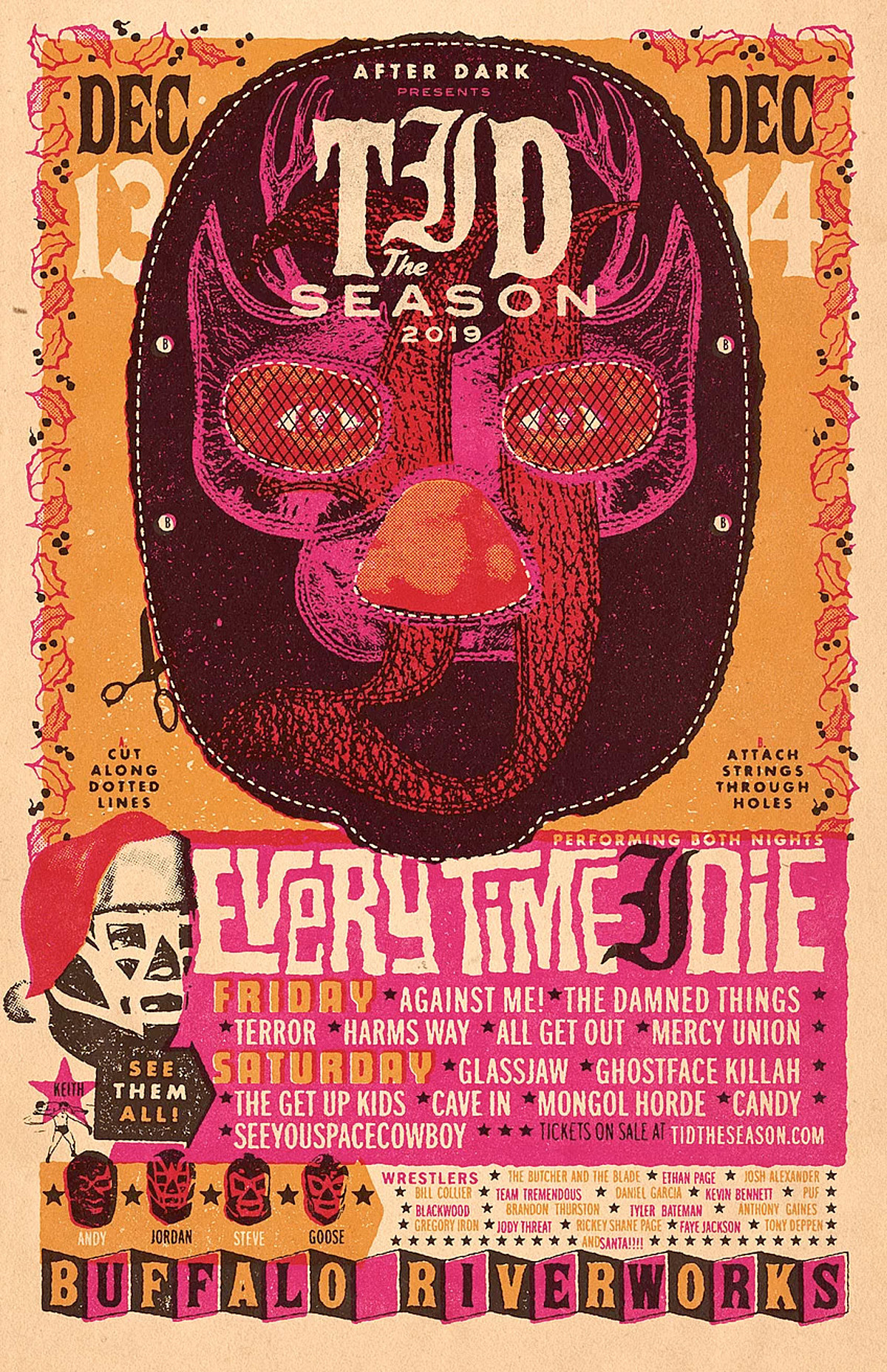 Etid Christmas Show 2020 Every Time I Die 2019 holiday show: Against Me!, Cave In, Glassjaw