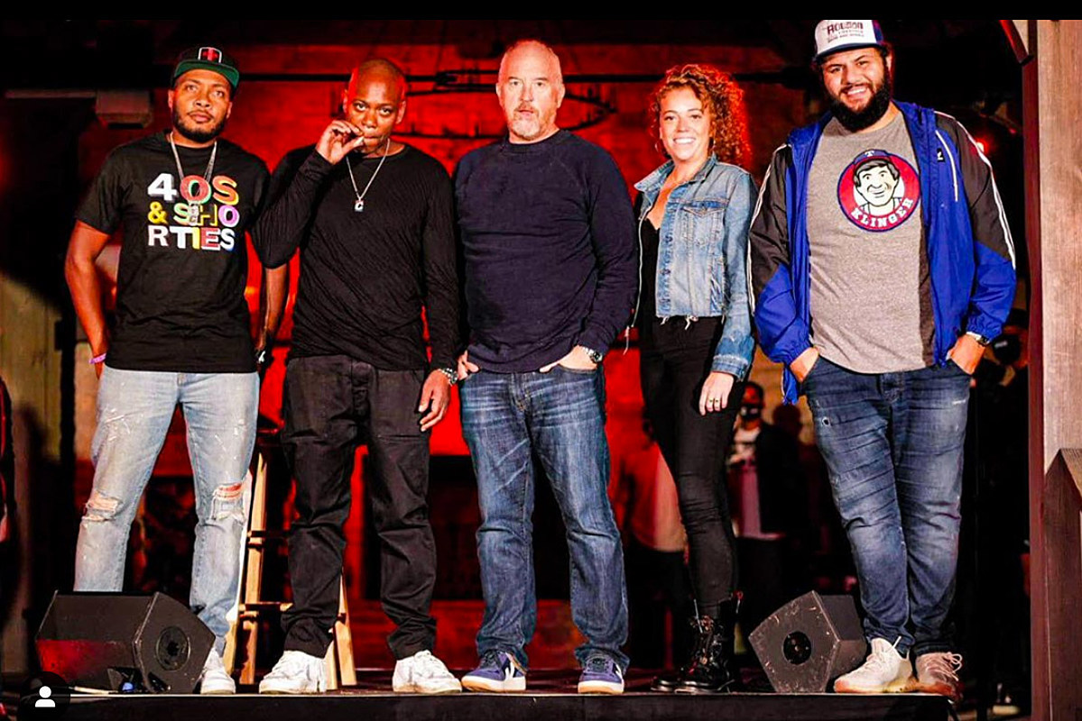 """Louis C.K. was a """"surprise guest"""" at Dave Chappelle's socially distant comedy show"""