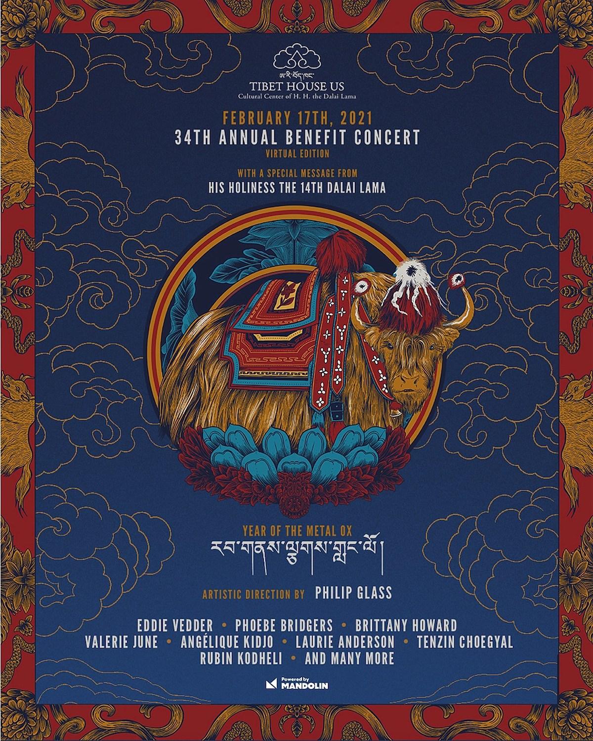 Phoebe Bridgers, Eddie Vedder & more playing virtual Tibet House Benefit