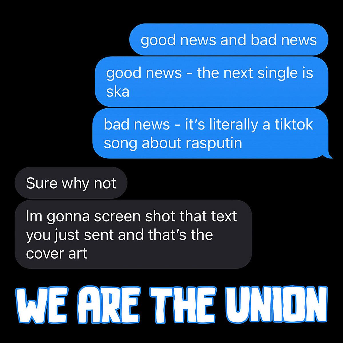 "We Are The Union release ska-punk cover of Boney M's TikTok-viral ""Rasputin"""