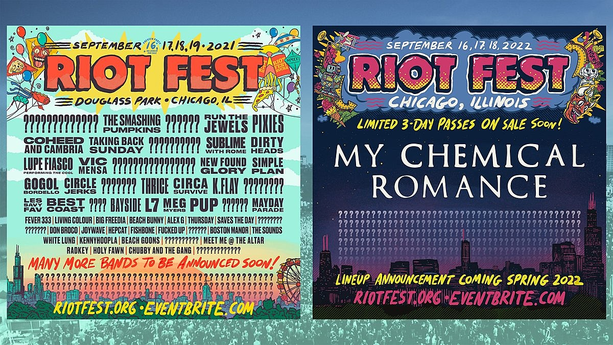 Riot Fest still on for 2021, but My Chemical Romance move to 2022