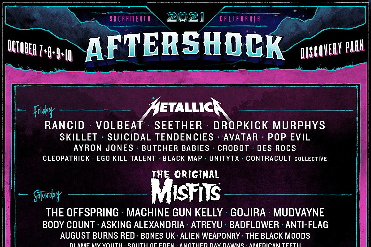 Misfits replace My Chemical Romance on Aftershock 2021 (updated lineup)