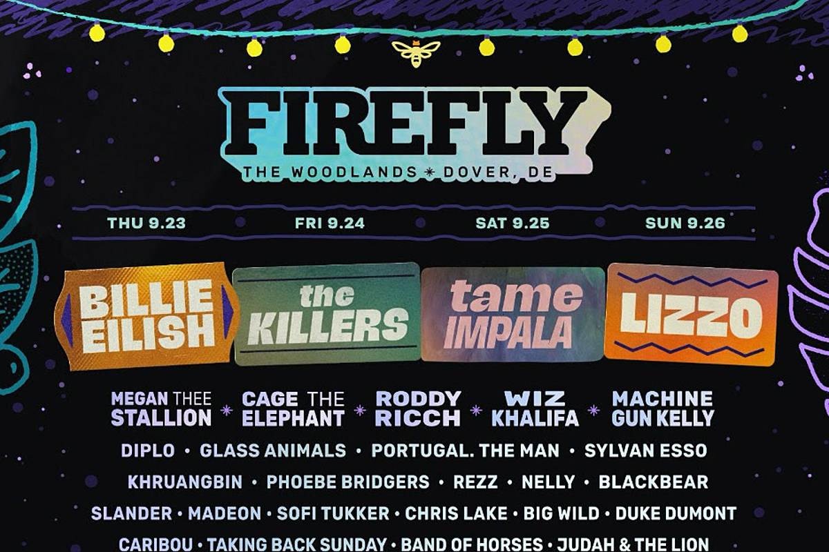 Firefly 2021 lineup: The Killers, Billie Eilish, Tame Impala, Lizzo, more