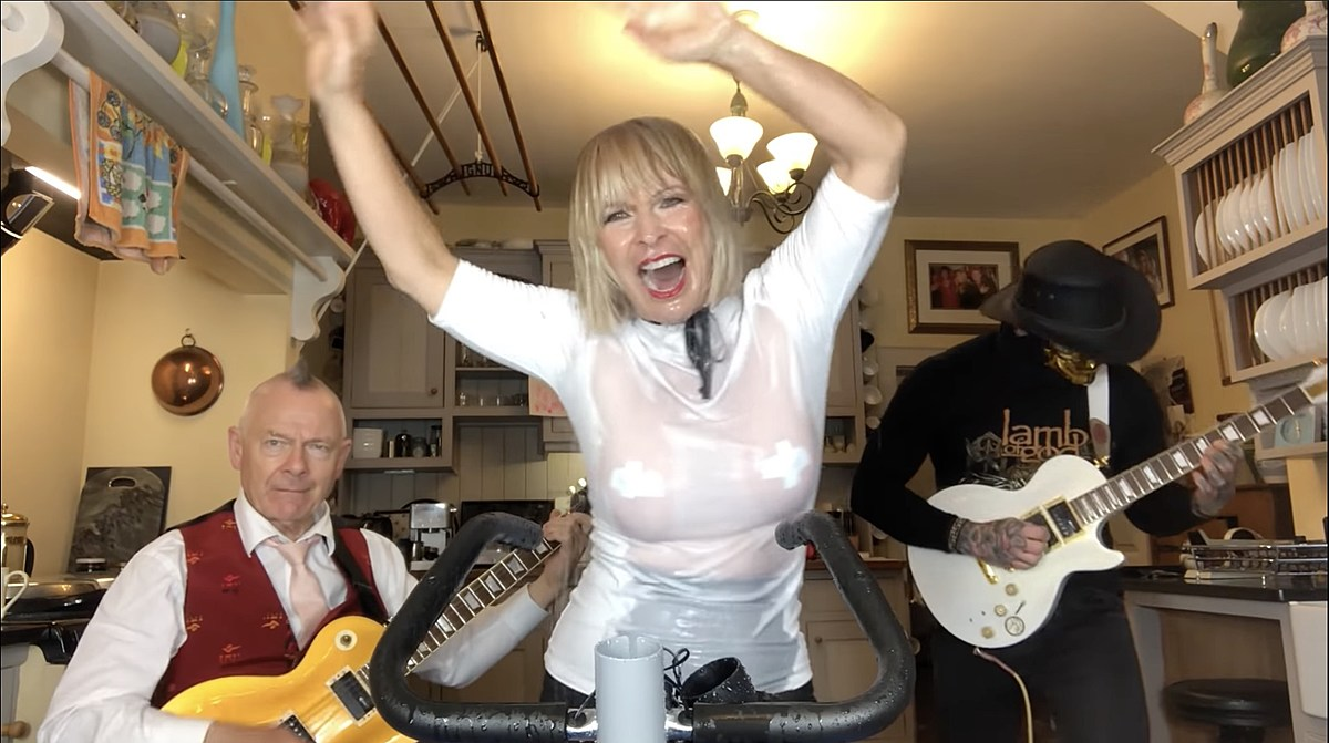 "Toyah & Robert Fripp cover ""Born to Be Wild"" for his birthday & their anniversary"