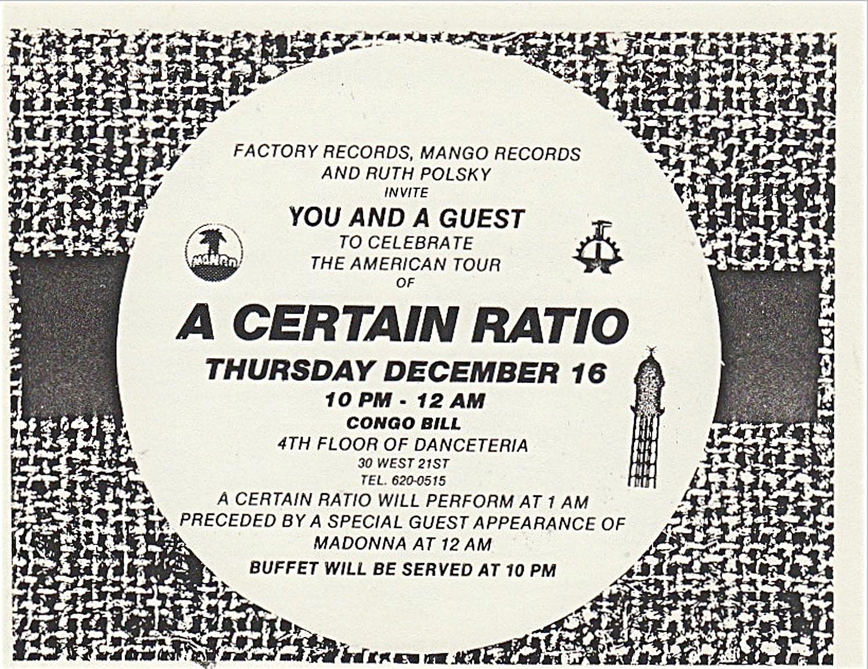 a certain ratio danceteria flyer