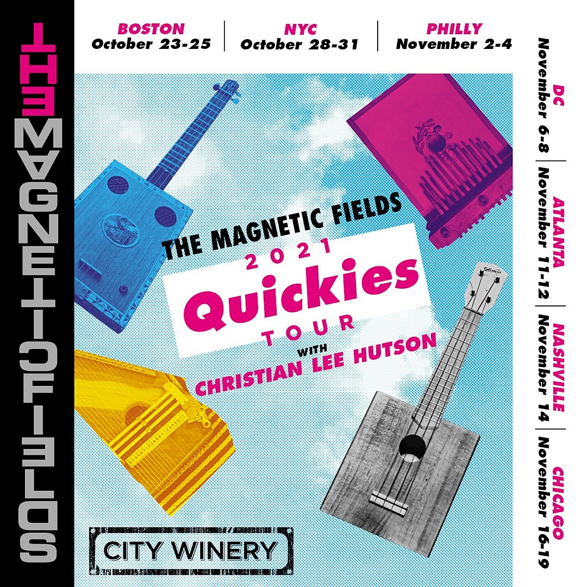 The Magnetic Fields reschedule tour, playing City Winery residencies