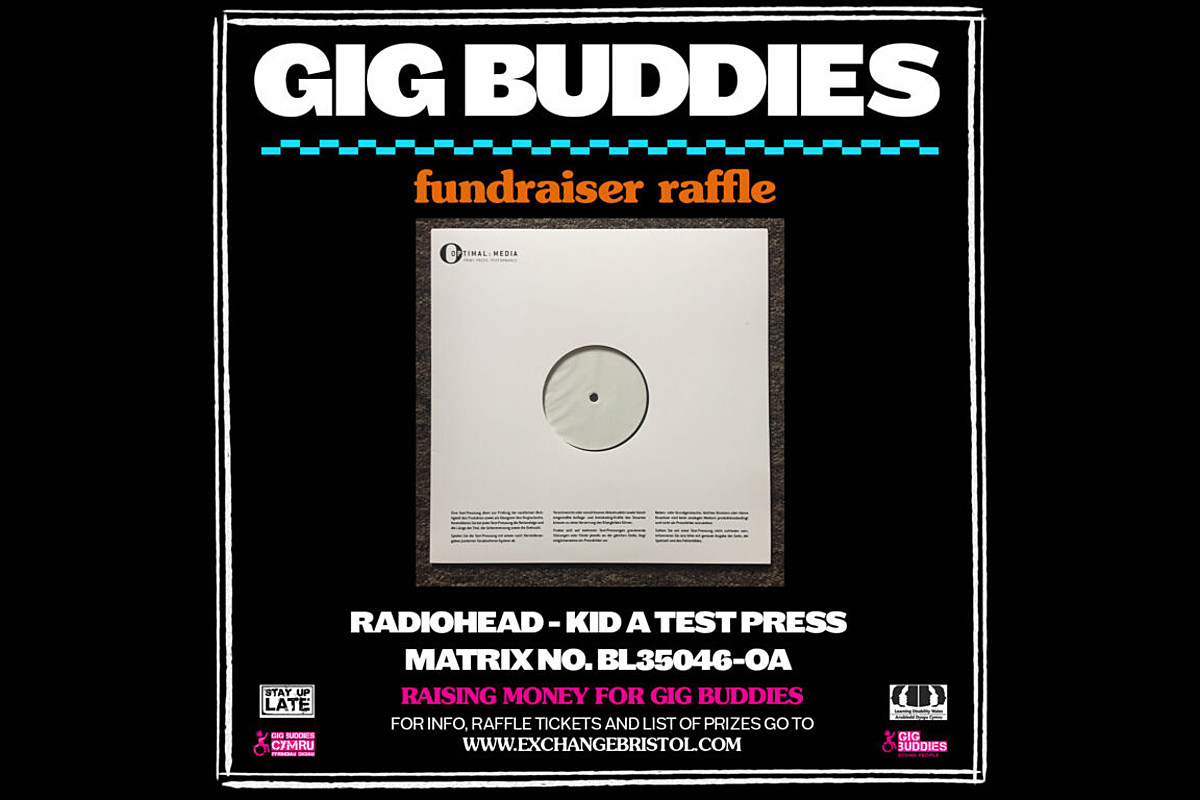 Radiohead raffling off 'Kid A' test pressing for Gig Buddies fundraiser