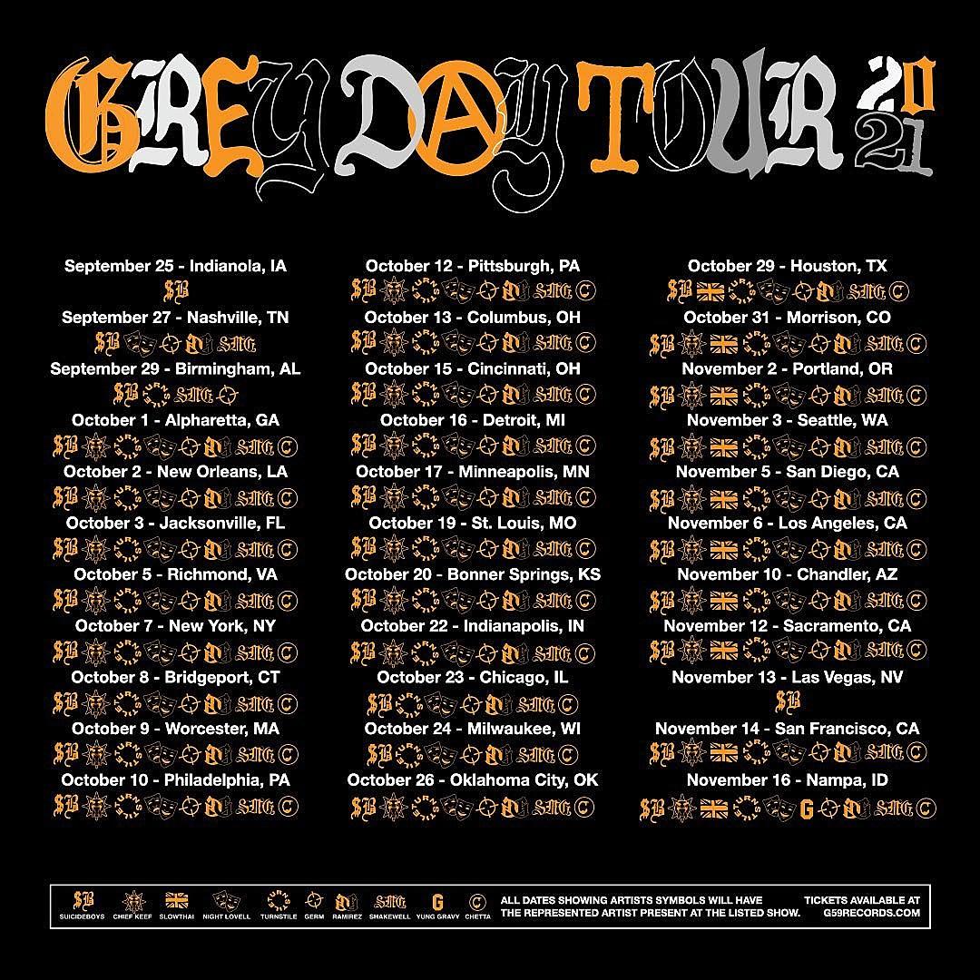 Grey Day tour 2021