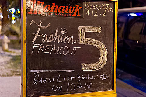 Fashion Freakout 5 @ Mohawk - 3/2/2012
