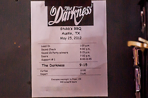 The Darkness @ Stubb's - 5/25/2012