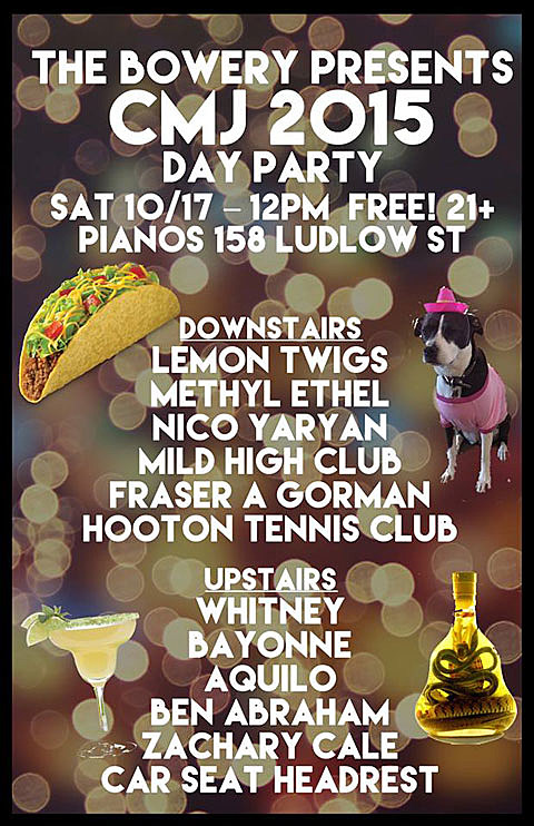 Bowery Presents CMJ day party 2015