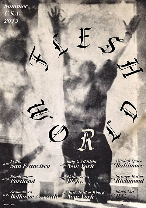 Flesh World Tour Flyer