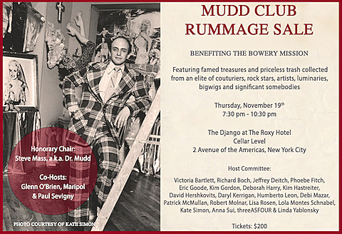 Mudd Club Rummage Sale