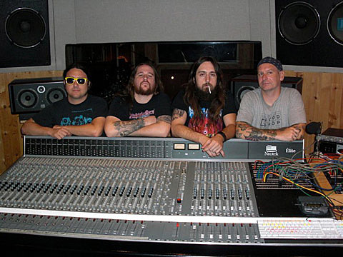 Municipal Waste in the studio