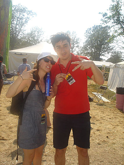 Ed Droste of Grizzly Bear with Feist
