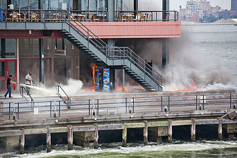 Fire on the Pier