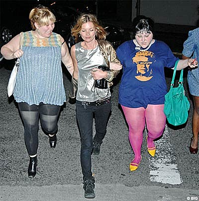 Kate Moss and Beth Ditto