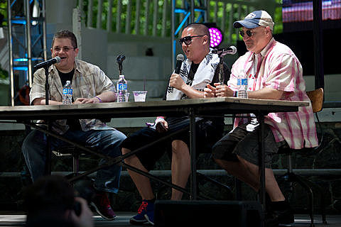 Noshing with Pattons Oswalt, Tom Colicchio, and Eddie Huang