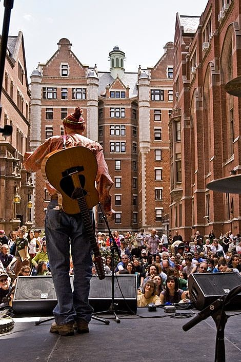 Pete Seeger Celebrates Earth Day at Columbia's Teachers College