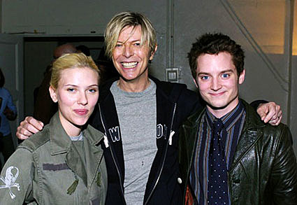 Scarlett Johansson and David Bowie