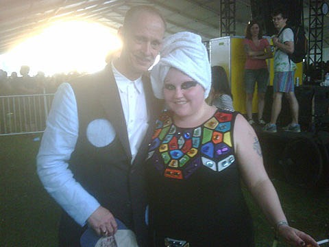 Beth Ditto and John Waters