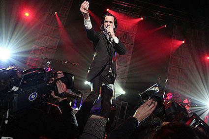 Nick Cave at the Plug Awards