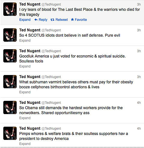 poor Ted Nugent