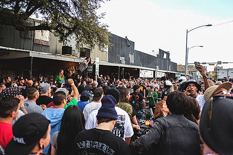 Trash Talk cause a ruckus outside Beerland - 3/14/2014