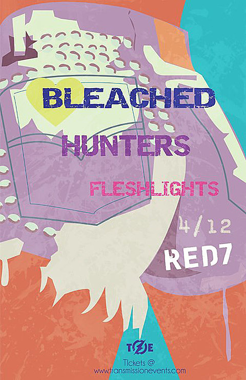 Bleached, Hunters, and Flesh Lights coming to Red 7 on 4/12