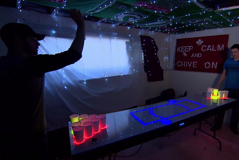 Canadian Bro Makes Incredible 1800 Interactive Beer Pong
