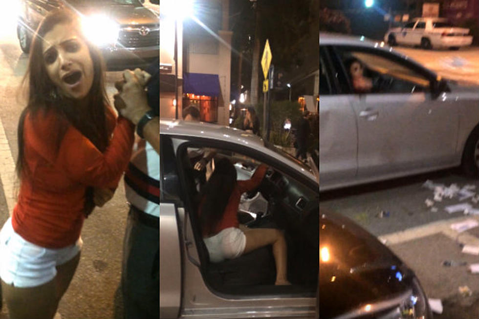 Drunk Chick Attacks Uber Driver, Empties Car [VIDEO]