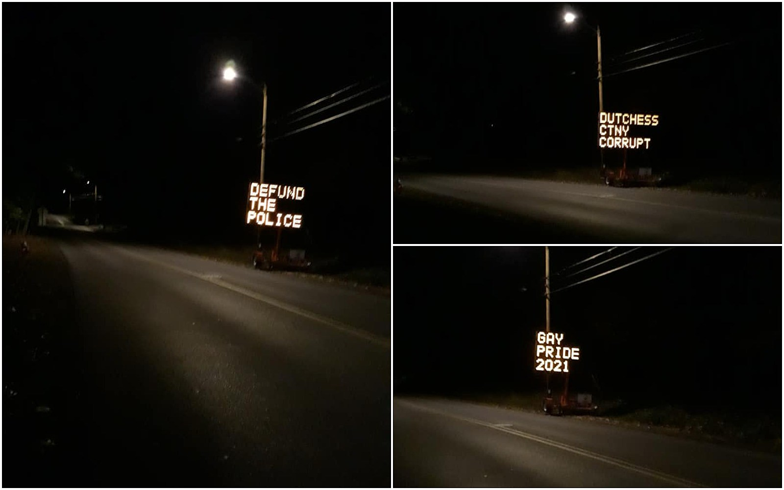 Construction Sign Hacked Again In Hudson Valley
