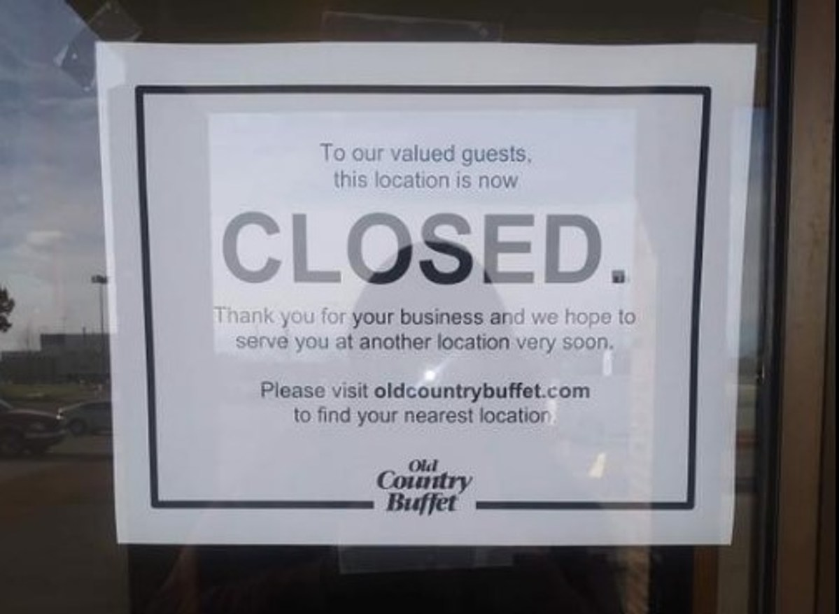 The Last Old Country Buffet in Michigan is Closed