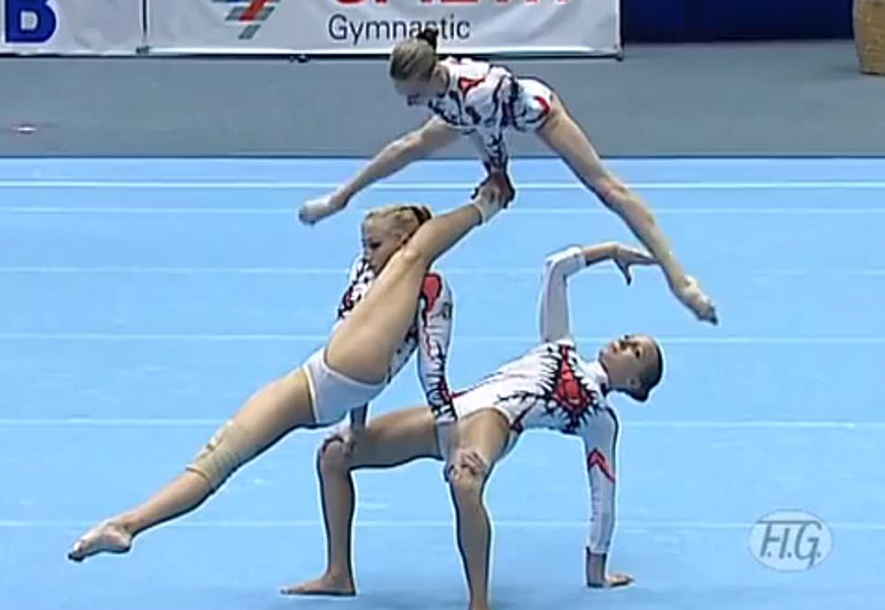 Ukrainian Gymnasts Perform Insane Zombie Like Floor Routine