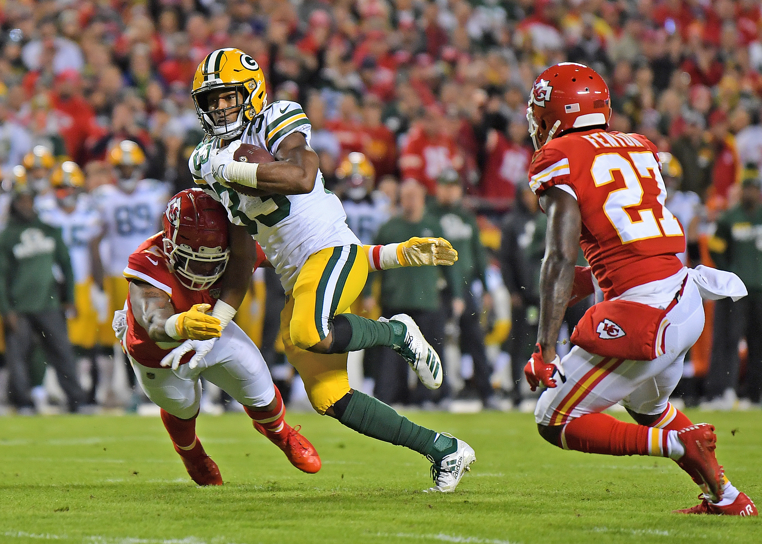 Aaron Jones Packers Continue To Roll As El Paso Watches In Awe