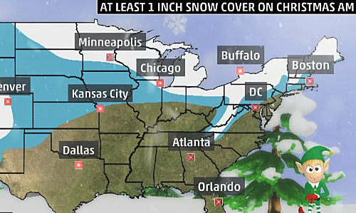 White Christmas Forecast.Michigan Only State To See A Completely White Christmas 2017