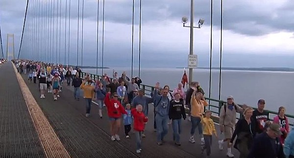 mackinac bridge walk 2018