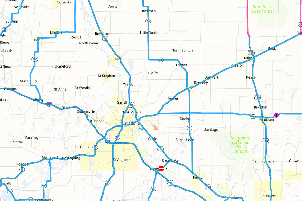 map of central minnesota Icy Roads And Accidents Across Central Minnesota Map map of central minnesota