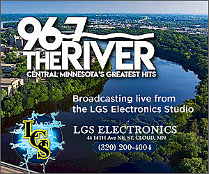 96.7 the River Studio Sponsor LGS Electronics