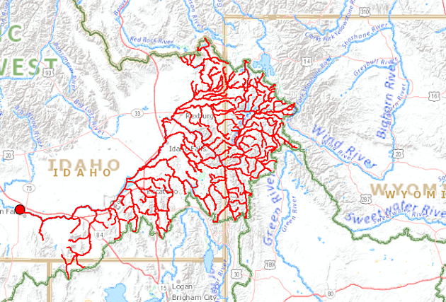 Have You Ever Wondered Where The Snake River Begins - Us-map-snake-river