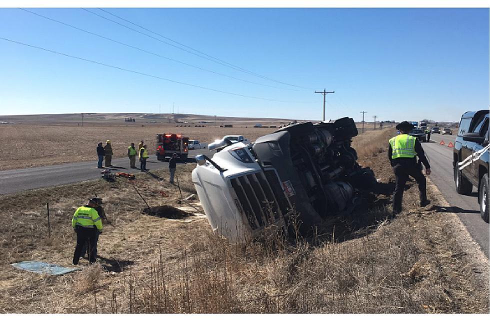 Crash Blocks Interstate Lane West of Burley