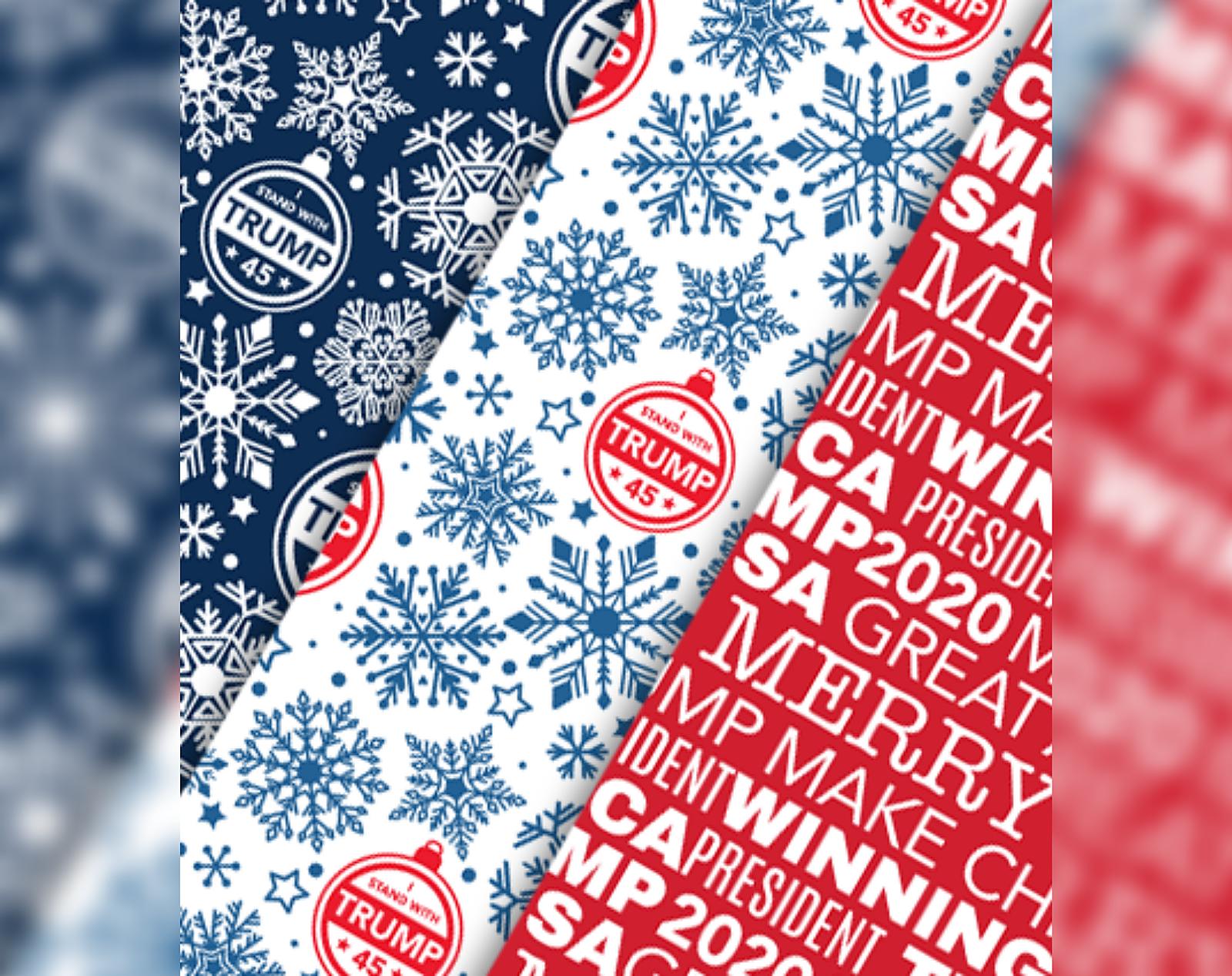 Merry Christmas Gift Wrap Republican