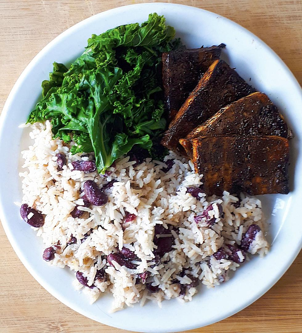 Jerk Tofu With Rice And Kidney Beans