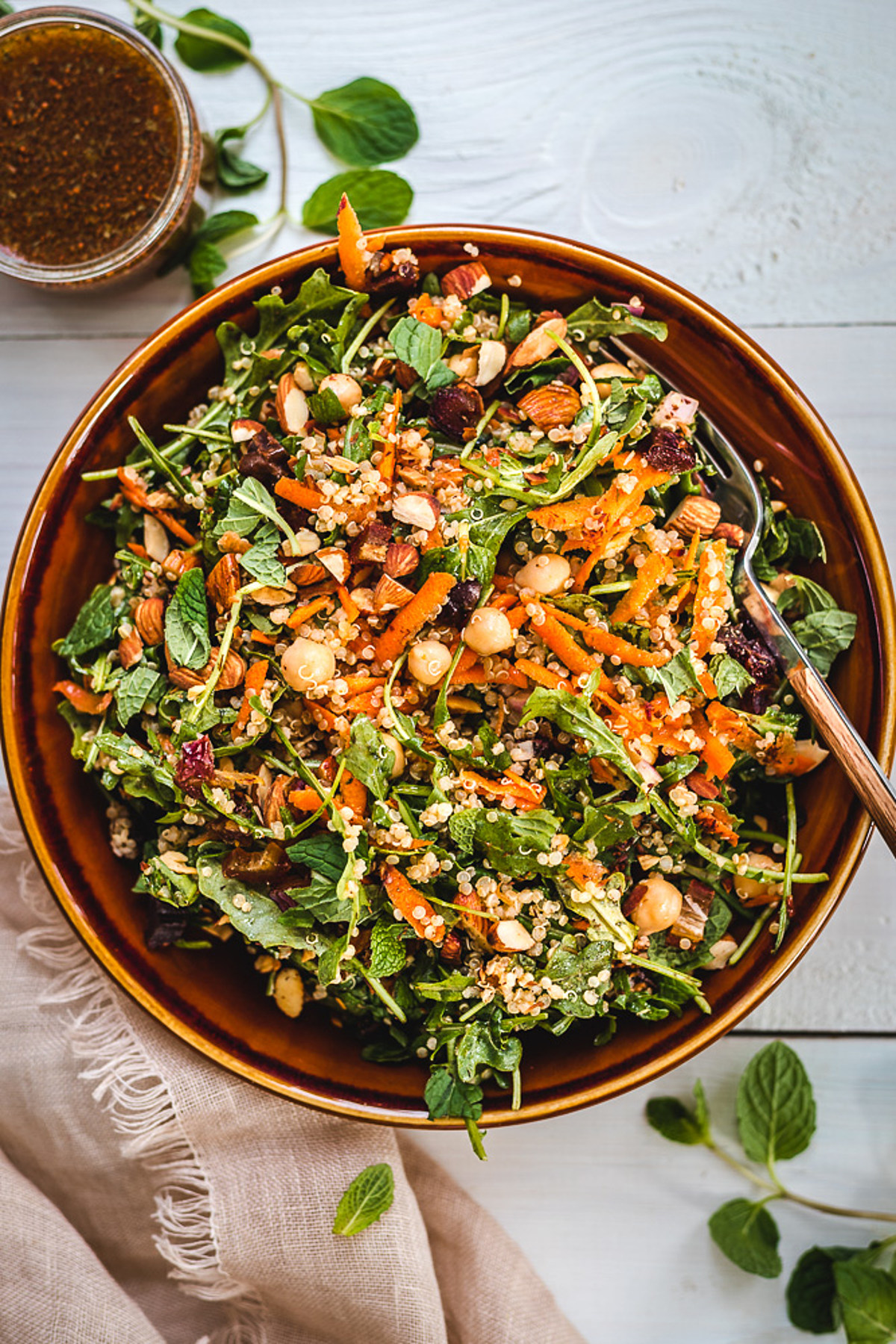 Moroccan-Inspired Salad with Superfoods and Plant-Based Protein