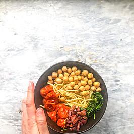 Mediterranean Chickpea Pasta