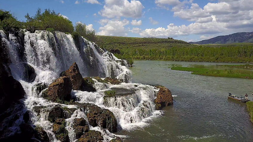Guy With Drone Captures Idaho's Fall Creek Falls in All its