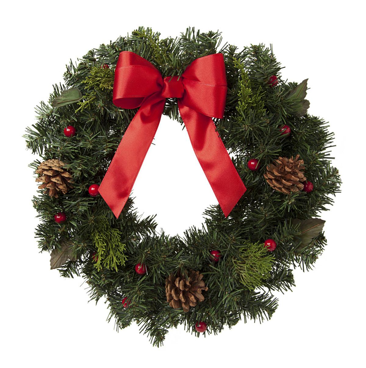 Pleasant Grove Hawks wreath